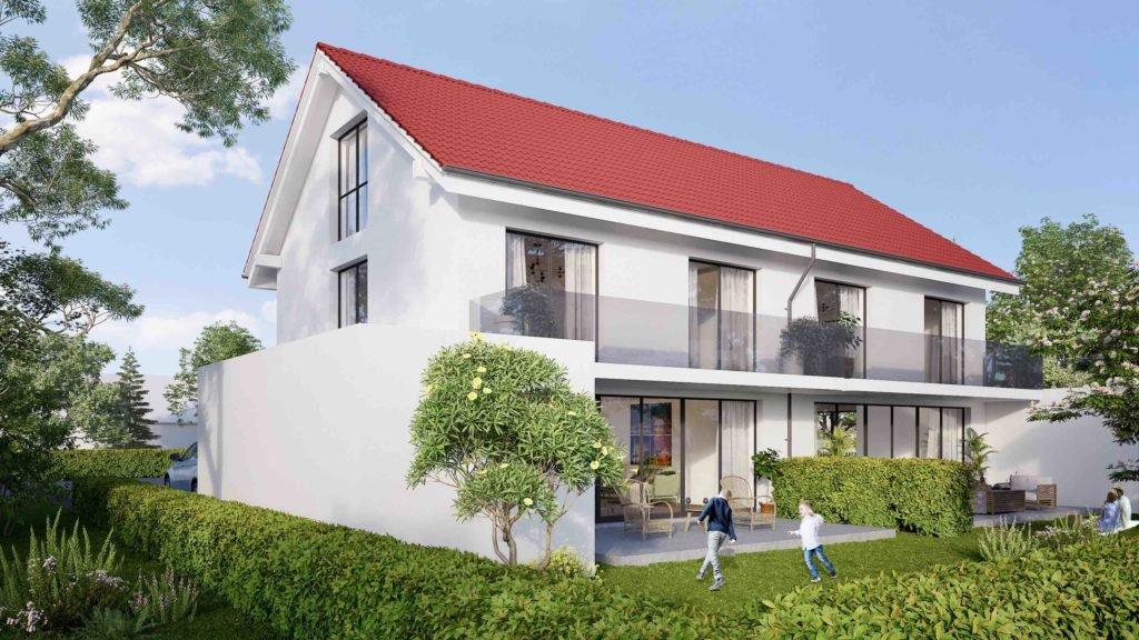 Doppelhaus in erster Reihe - Betrachtung Südseite