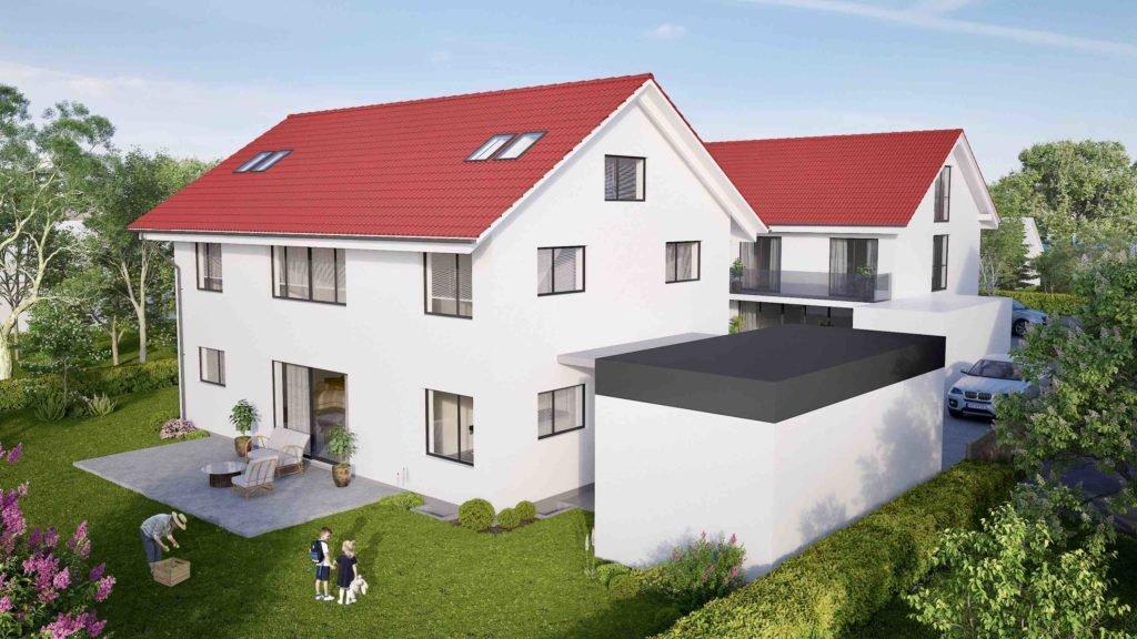Einfamilienhaus in erster Reihe - Betrachtung Südseite